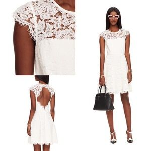 Kate Spade | Rose Lace Fit and Flare Dress sz 10